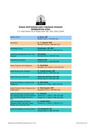 DINAS PERTANIAN DAN TANAMAN PANGAN.pdf - Pemerintah Aceh