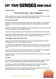 Day Thirteen Highlights - Sydney Royal Easter Show