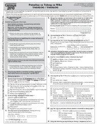 Patnubay sa Tulong sa Wika TAGALOG / TAGALOG - Census Bureau