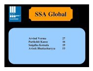 ERP Solutions of SSA Global