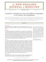 Comparison of Weight-Loss Diets with Different Compositions