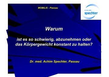 Warum das Abnehmen so schwierig ist - Achim Spechter