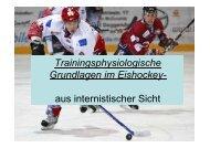 Trainingsphysiologische Grundlagen im Eishockey - Achim Spechter