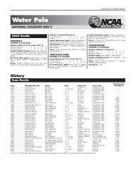 2005 NCAA Men's Water Polo Championship Records Book