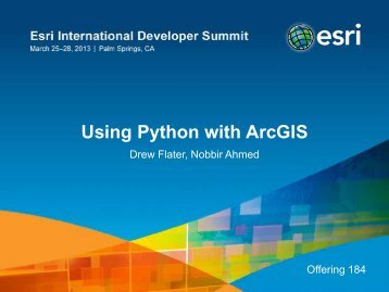 Using Python with ArcGIS
