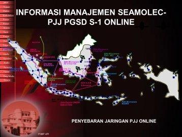 informasi manajemen seamolec- pjj pgsd s-1 online - Direktori File UPI