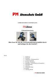 PM Blower & SR200 - PM Atemschutz