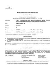 CE EC TYPE EXAMINATION CERTIFICATE - PM Atemschutz