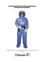 PM Blower Suit Chemical Blue - PM Atemschutz