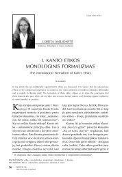 I. Kanto etikos monologinis formalizmas - Logos