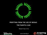 profiting from the use of biogas the panvita case - European Pig ...