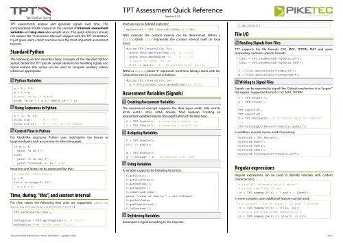 TPT Assessment-Language - PikeTec
