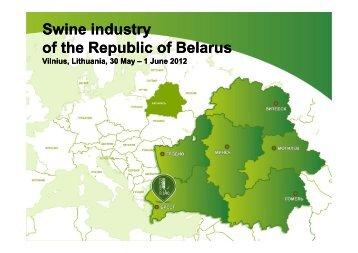 Swine industry of the Republic of Belarus - European Pig Producers