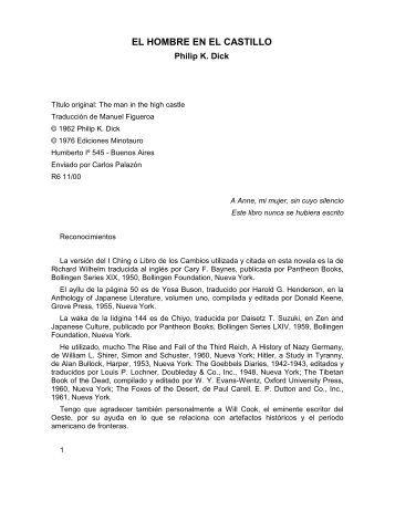 EL HOMBRE EN EL CASTILLO - Alconet