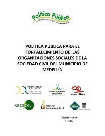 política pública para el fortalecimiento de las organizaciones ...
