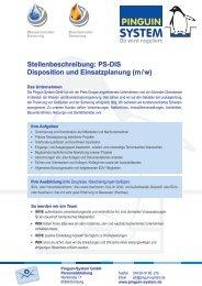 Stellenbeschreibung: PS-DIS Disposition und Einsatzplanung (m / w)