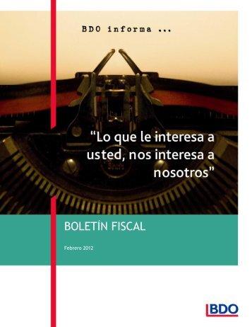 BOLETÍN FISCAL - BDO México
