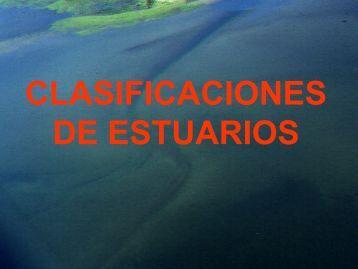 CLASIFICACIONES DE ESTUARIOS