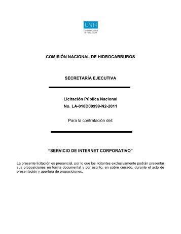 bases de licitación pública nacional la-018d00999-n2-2011