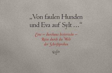 """""""Von faulen Hunden und Eva auf Sylt . . . """""""