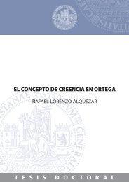 El concepto de creencia en Ortega - Catedu