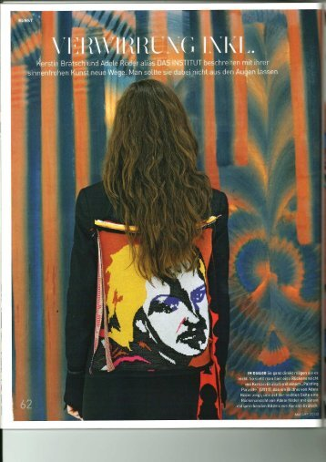 Presseartikel im Magazin MADAME, Februar 2012, Seite 62