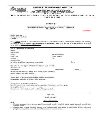 ESTAS BASES CORRESPONDEN AL CONCURSO No - Pemex ...