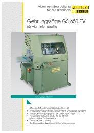 Gehrungssäge GS 650 PV - Pressta Eisele GmbH