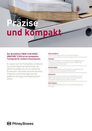 Produktdatenblatt (Pdf) - Pitney Bowes Deutschland GmbH