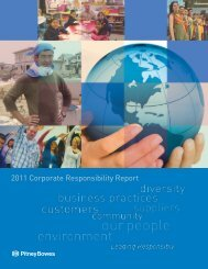 2011 Corporate Responsibility Report - Pitney Bowes
