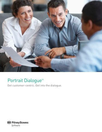 Portrait Dialogue brochure - Pitney Bowes