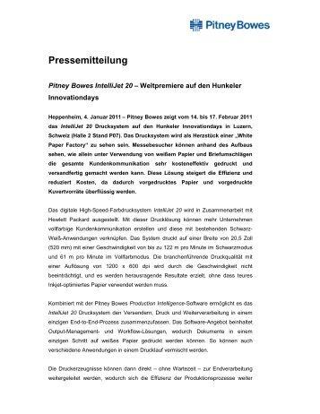 110104 Hunkeler - Pitney Bowes Deutschland GmbH