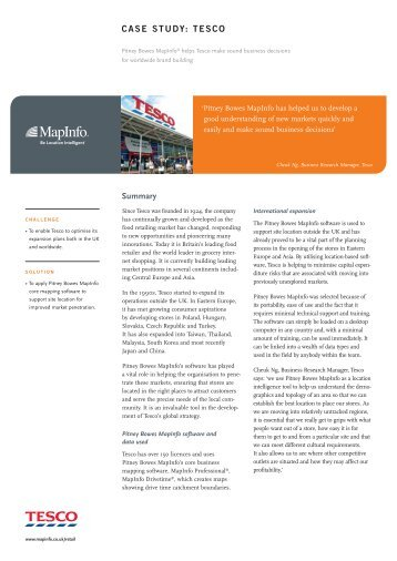 tesco case study - Pitney Bowes Software