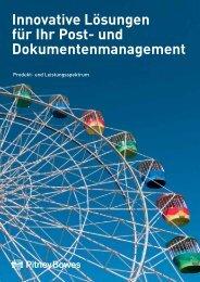 Falz- und Kuvertierlösungen - Pitney Bowes Deutschland GmbH