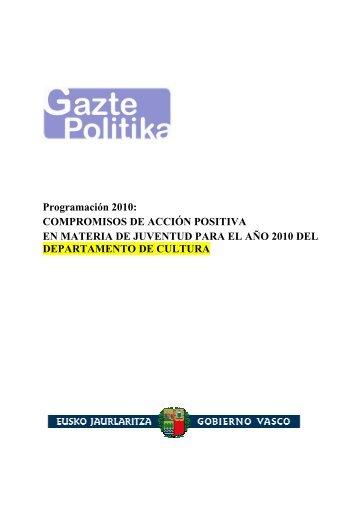Programación 2010 - Gazteaukera - Euskadi.net