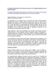 El Gobierno destinará 100 millones de euros a la ... - Funac.org