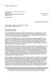 2 Briefe von PrimaKlima an den SPIEGEL. - PRIMAKLIMA-weltweit-eV