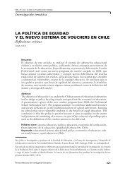 la política de equidad y el nuevo sistema de vouchers en chile