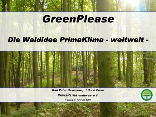 GreenPlease - PRIMAKLIMA-weltweit-eV