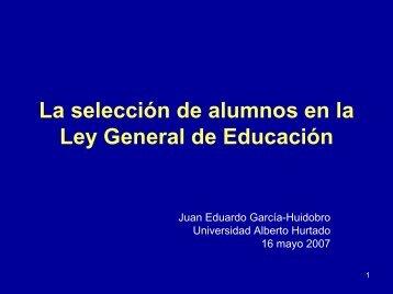 Presentación Juan E. García - Observatorio Chileno de Políticas ...