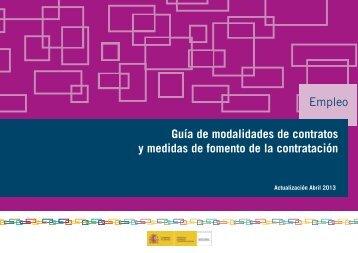 Guía de modalidades de contratos - Servicio Público de Empleo ...