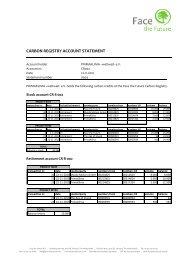 carbon registry account statement - PRIMAKLIMA-weltweit-eV