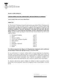 Bases per subvencions 2013 - Ajuntament de Sant Joan Despí