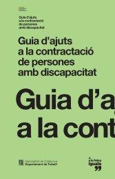 Guia d'ajuts a la contractació - Generalitat de Catalunya