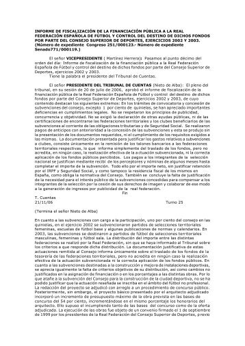 comparecencia comision mixtra tribunal de cuentas - Munideporte