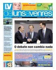 O debate non cambia nada > RAJOY - Galiciaé