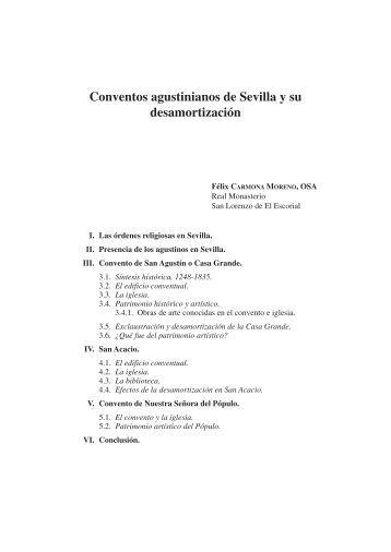 Conventos agustinos de Sevilla y su desamortización.