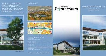 Transparenz und Offenheit - Peter-Joerres-Gymnasium