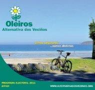 Programa electoral - Alternativa dos Veciños