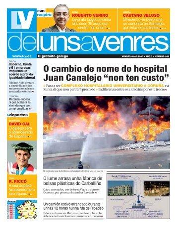 """O cambio de nome do hospital Juan Canalejo """"non ten custo"""""""
